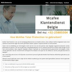 Hoe McAfee Total Protection te gebruiken?