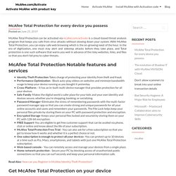 McAfee Total Protection for every device you possess
