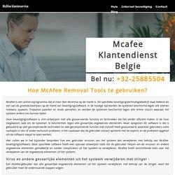 Hoe McAfee Removal Tools te gebruiken?