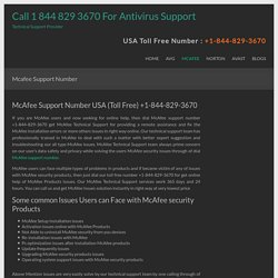 Mcafee Support Number - Call 1 844 829 3670 For Antivirus Support