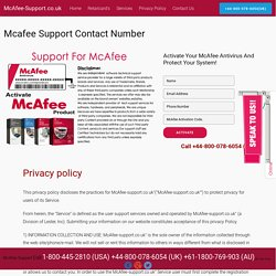 McAfee Support Contact Number UK +44-800-078-6054