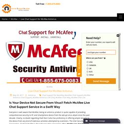 How to Contact McAfee Live Chat Support Toll-Free Number?
