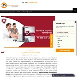McAfee Technical Support -