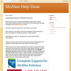 McAfee Help Desk: Troubleshoot Issues in McAfee Antivirus