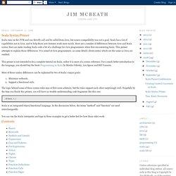 Scala Syntax Primer