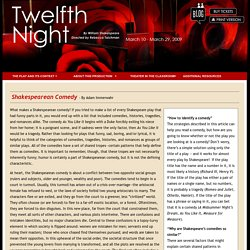 McCarter Theatre - Twelfth Night Audience Guide