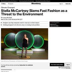 Stella McCartney Slams Fast Fashion as a Threat to the Environment