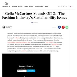 Stella McCartney Canopy Style Fashion Sustainability