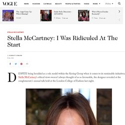 Stella McCartney Kering Sustainability Talk