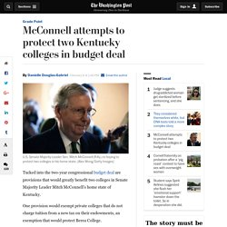 McConnell attempts to protect two Kentucky colleges in budget deal