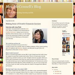 Mrs. McConnell's Blog: Making Sense of Creative Commons Licenses
