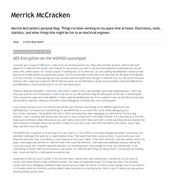 Merrick McCracken: AES Encryption on the MSP430 Launchpad