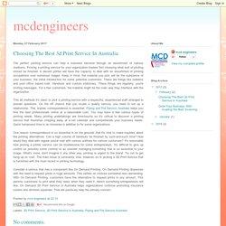 mcdengineers: Choosing The Best 3d Print Service In Australia