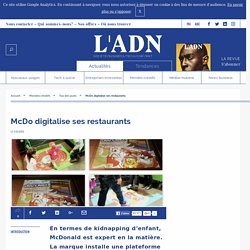 McDo digitalise ses restaurants