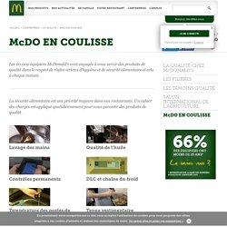 McDO EN COULISSE