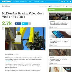 McDonald's Beating Video Goes Viral on YouTube