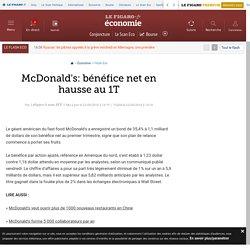 McDonalds: bénéfice net en hausse au 1T