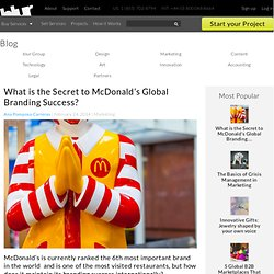 What is the Secret to McDonald's Global Branding Success?