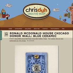 Ronald McDonald House Chicago Donor Wall: Blue Ceramic