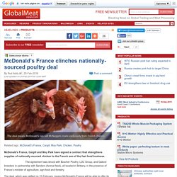McDonald's France clinches nationally-sourced poultry deal