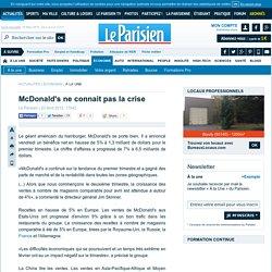 McDonald's ne connait pas la crise