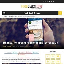 McDonald's France débarque sur Instagram