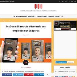 McDonald's recrute désormais ses employés sur Snapchat