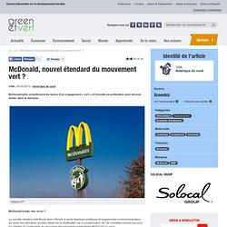 McDonald, nouvel étendard du mouvement vert ?