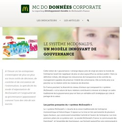 Le système McDonald's, un modèle innovant de gouvernance