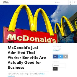 McDonald's Improving Sales Linked to Employee Benefits