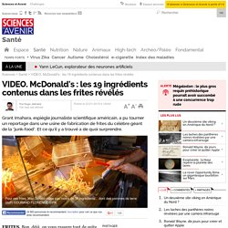 McDonald's: les 19 ingrédients contenus dans les frites révélés
