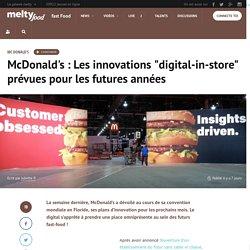 McDonald's : Les innovations digital-in-store prévues pour les futures années