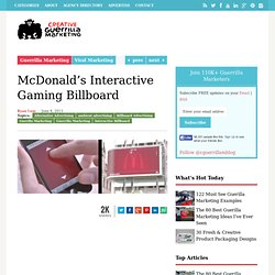 McDonald's Interactive Gaming Billboard