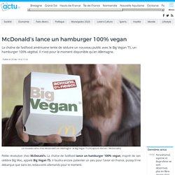 McDonald's lance un hamburger 100% vegan
