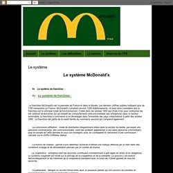 McDonald's: Le système