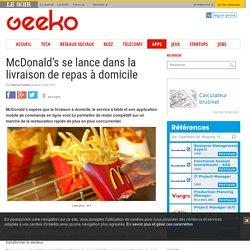 McDonald's se lance dans la livraison de repas à domicile