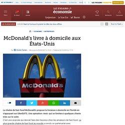 McDonald's livre à domicile aux États-Unis
