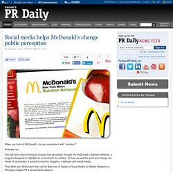 Social media helps McDonald's change public perception