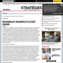 McDonald's recrute et le fait savoir
