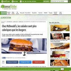 Chez Mcdonald's, les salades sont plus caloriques que les burgers