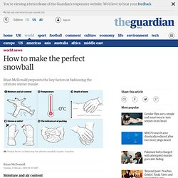 Brian McDonald on how to make the perfect snowball