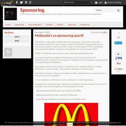 McDonald's un sponsoring sportif - Sponsoring