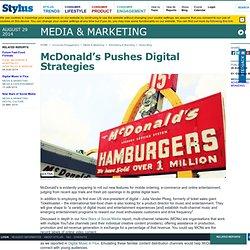 McDonald's Pushes Digital Strategies