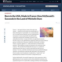 Born in the USA, Made in France | Geography Education | Scoop.it