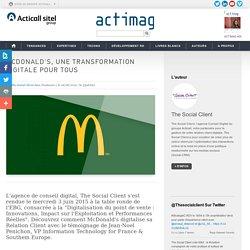 McDonald's, une transformation digitale pour tous