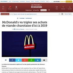 McDonald's va tripler ses achats de viande charolaise d'ici à 2019
