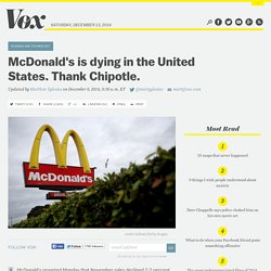McDonald's is dying in the United States. Thank Chipotle.