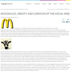McDonalds, obesity and curation of the social web | EngageSciences