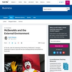 3.1.3 McDonalds and the External Environment