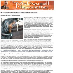 McDougall Newsletter - Favorite Five